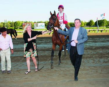 William Lawrence and his wife Gloria with Balance the Books at Saratoga