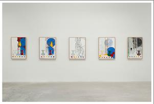 5 Postcards, Jasper Johns, 2011, various- oil and encaustic on canvas, variable dimensions, promised gift of Keith L. and Katherine Sachs, Philadelphia Museum of Art
