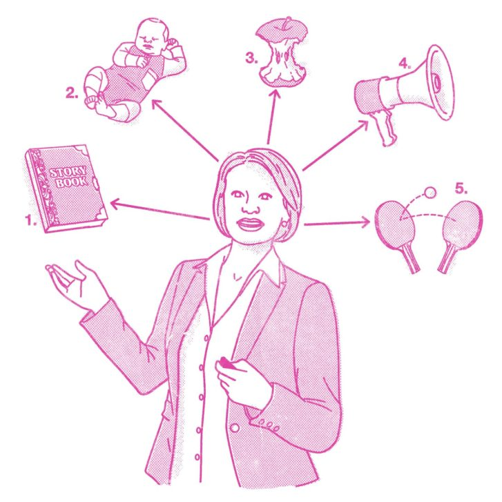 Illustration depicting five ways to improve communications