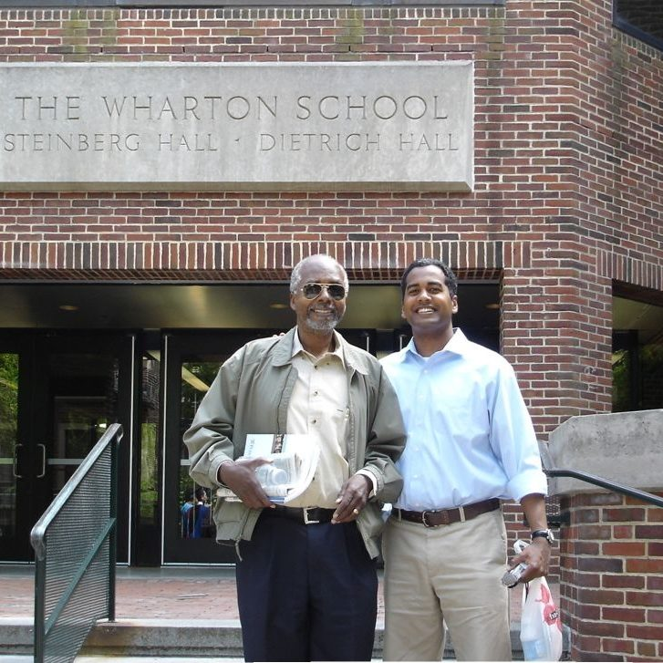 From left: Father Harold Thomas and son Ahmad Thomas
