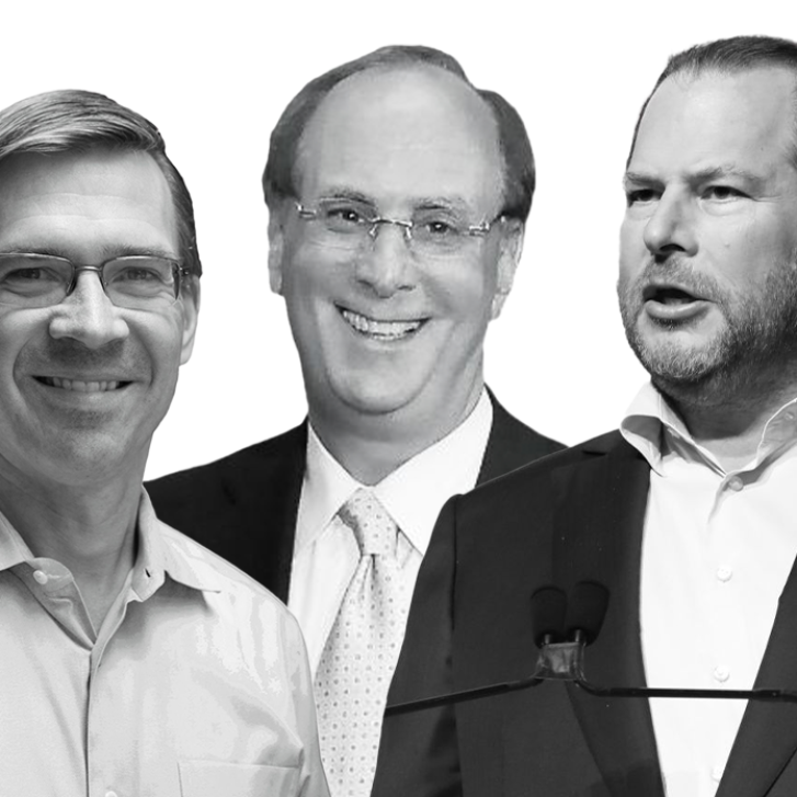 Witold Henisz, Larry Fink, and Marc Benioff